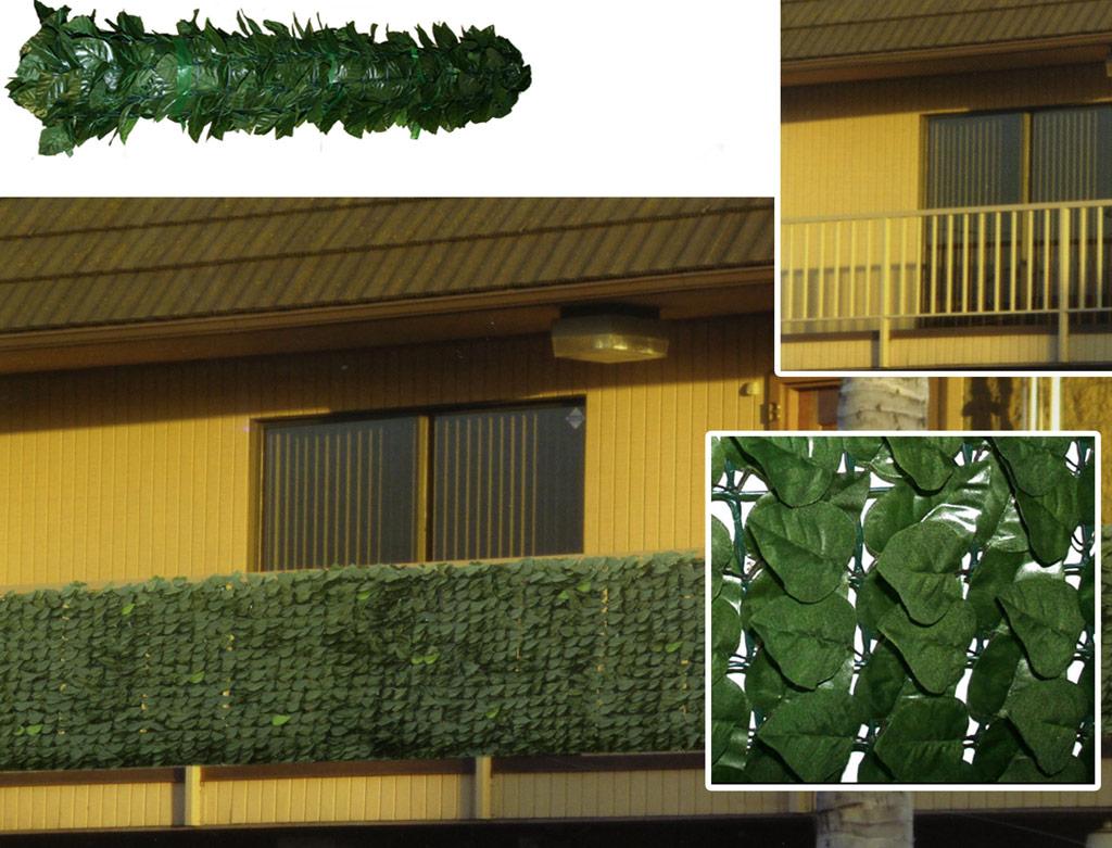 Siepe artificiale balcone fioriera con grigliato plastica for Siepi artificiali per balconi